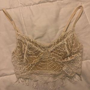 Lace bralette/crop top